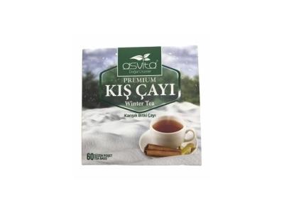 Asvita Kış Çayı Bitki Süzen Poşet Çay 60 Adet