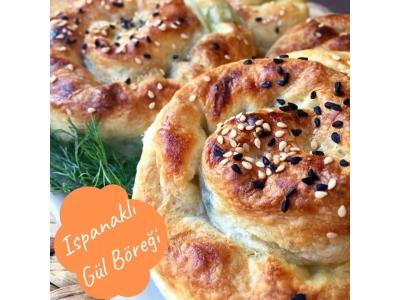 Ispanaklı Gül Böreği(10 Adet)