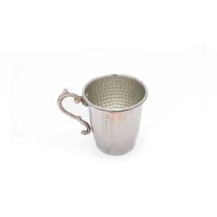 Bakır Bardak Gümüş Renkli El İşçiliği Su Bardağı