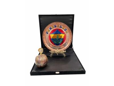 Fenerbahçe Amblem Desenli Bakır Plaket